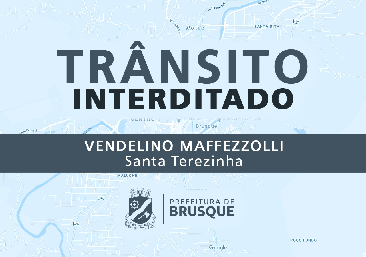 Rua Vendelino Maffezzolli será interditada na quarta-feira (19)