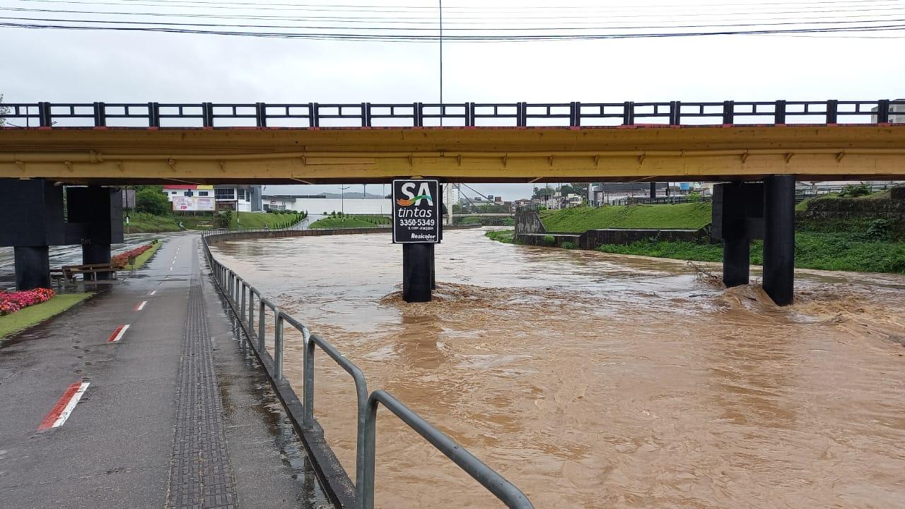 Defesa Civil de Brusque divulga boletim com as ocorrências em virtude das chuvas