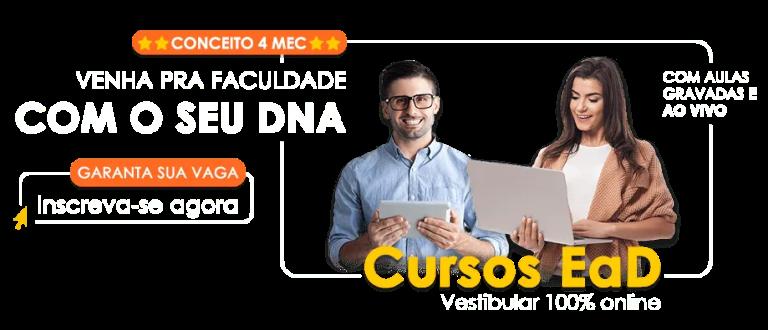 Venha pra faculdade com o seu DNA! Inscreva-se agora.