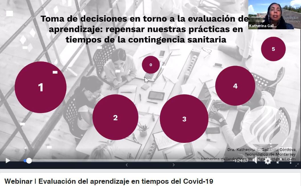 Webinar: Evaluación del Aprendizaje en tiempos de Covid