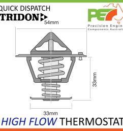 new tridon high flow thermostat for mazda t3500 t4000 diesel inc turbo [ 1000 x 1000 Pixel ]