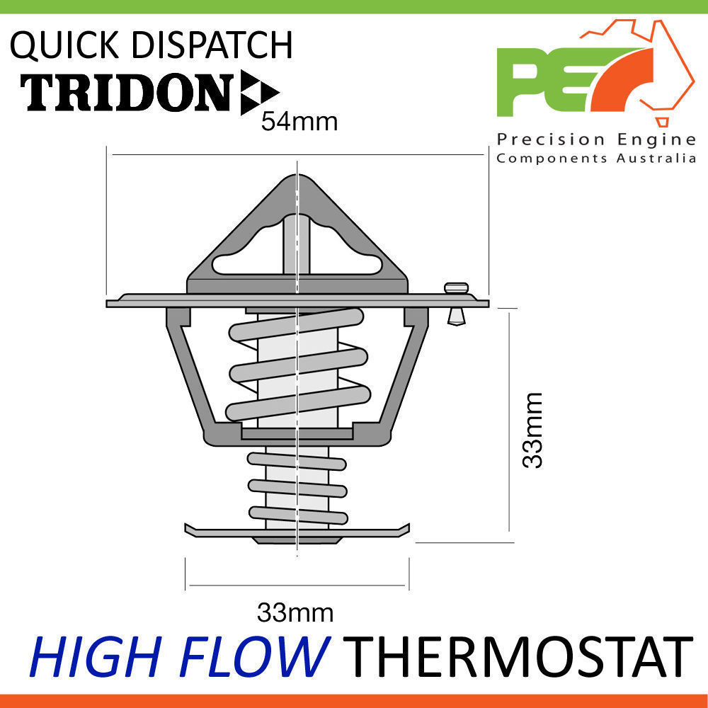 hight resolution of new tridon high flow thermostat for mazda t3500 t4000 diesel inc turbo