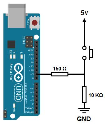 Pino digital do Arduino Uno trabalhando como entrada