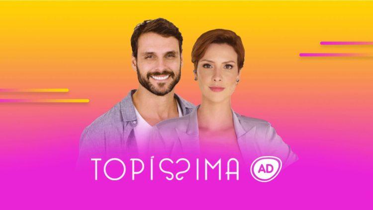 Logo do reusmo diário da novela Topíssima