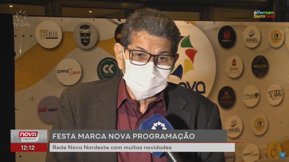 Jota Ferreira no evento de lançamento da TV Nova Nordeste, afiliada da TV Cultura
