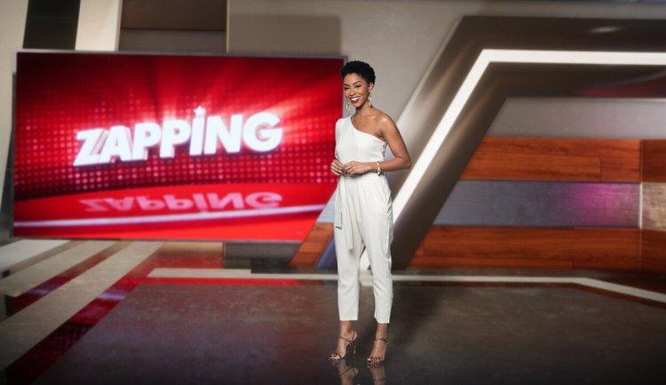 Mariana Bispo gravando piloto no Zapping da Record News