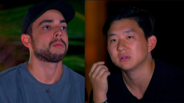 Lucas e Pyong no Ilha Record