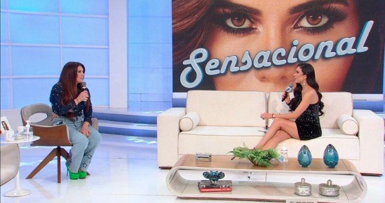 Simony e Daniela Albuquerque nos estúdios do Sensacional