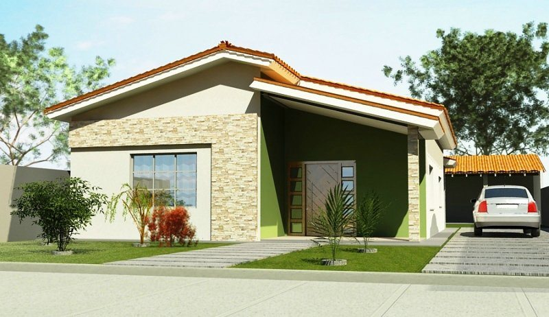 Fachadas de Casas com Garagem  Modernas Pequenas Fotos