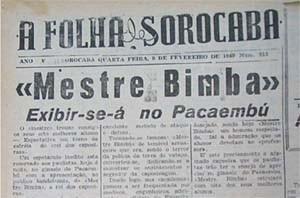 """Portal Capoeira E """"seu Bimba"""" foi notícia até em Sorocaba Publicações e Artigos"""