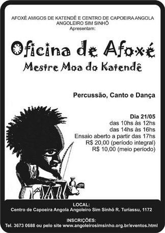 Portal Capoeira Oficina de Afoxé com Mestre Moa do Katendê Eventos - Agenda
