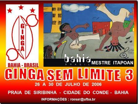Portal Capoeira Grupo Ginga, Bahia: Ginga Sem Limite 3 Eventos - Agenda
