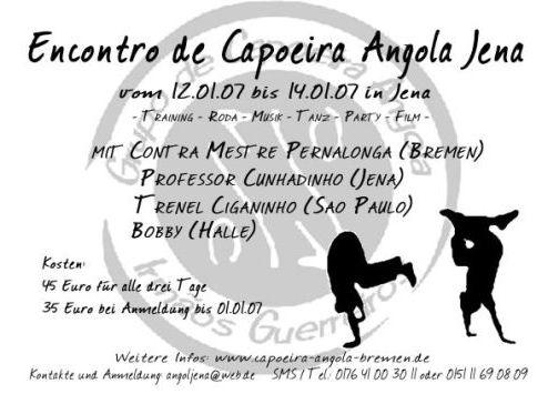 Portal Capoeira Irmãos Guerreiros: Encontro de Capoeira Angola em Jena Eventos - Agenda
