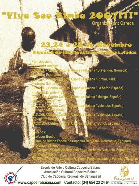 Portal Capoeira Espanha: VIVA SEU BIMBA !!! Eventos - Agenda