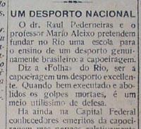 Portal Capoeira O ensino da capoeiragem no início do século XX Publicações e Artigos