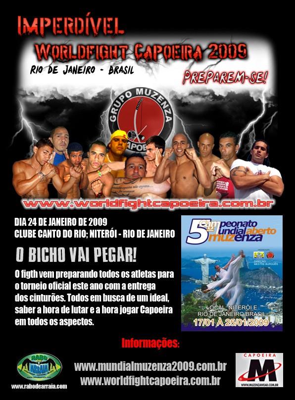 Portal Capoeira RJ: WORLD FIGHT CAPOEIRA MUZENZA Eventos - Agenda