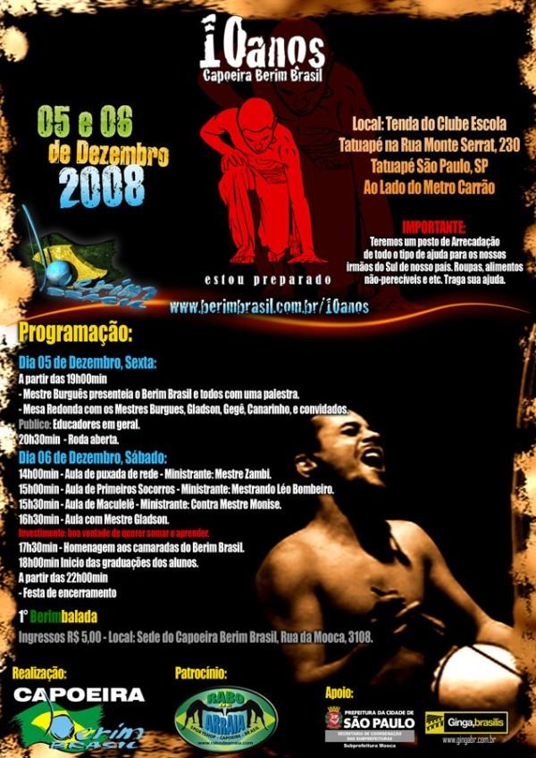 Portal Capoeira SP: 10 anos Capoeira Berim Brasil Eventos - Agenda