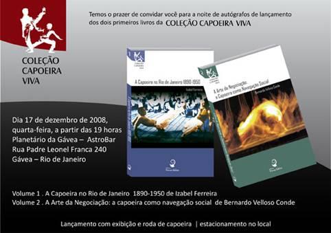Portal Capoeira Lançamento da Coleção Capoeira Viva no Planetário da Gávea Notícias - Atualidades
