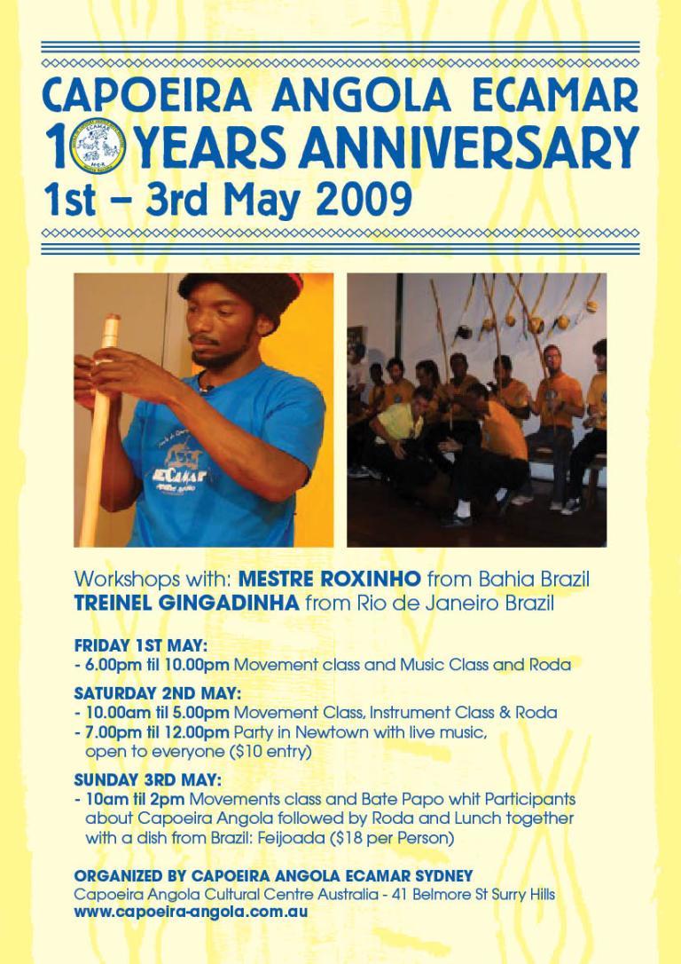 ECAMAR: 10 anos de Capoeira Angola