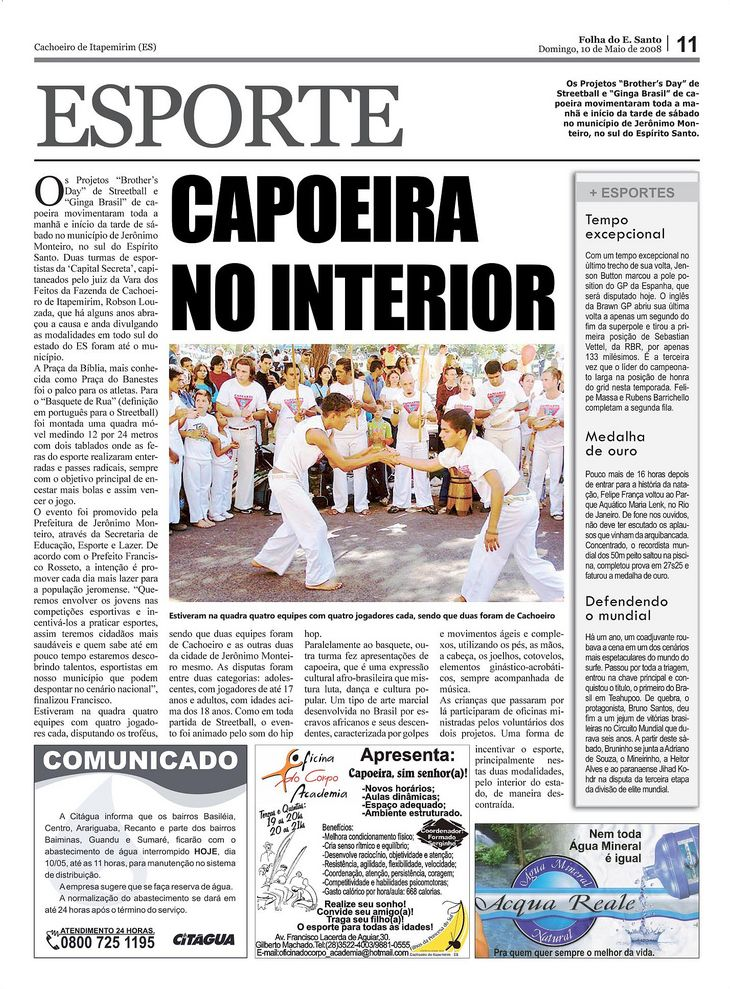 ES: CAPOEIRA NO INTERIOR