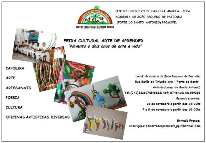 Portal Capoeira CECA - Feira Cultural Arte de Aprender Eventos - Agenda
