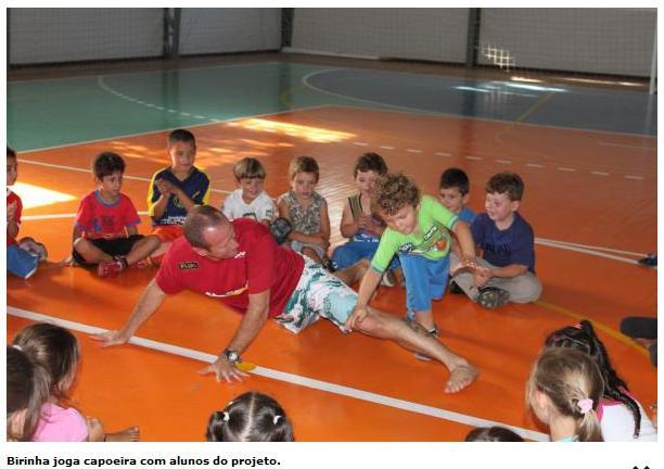 Portal Capoeira Gramado: Grande participação no Projeto Capoeira nas escolas municipais Cidadania