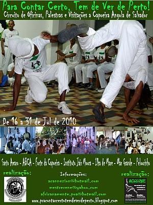 Portal Capoeira Para Contar Certo tem de Ver de Perto 2010 Eventos - Agenda