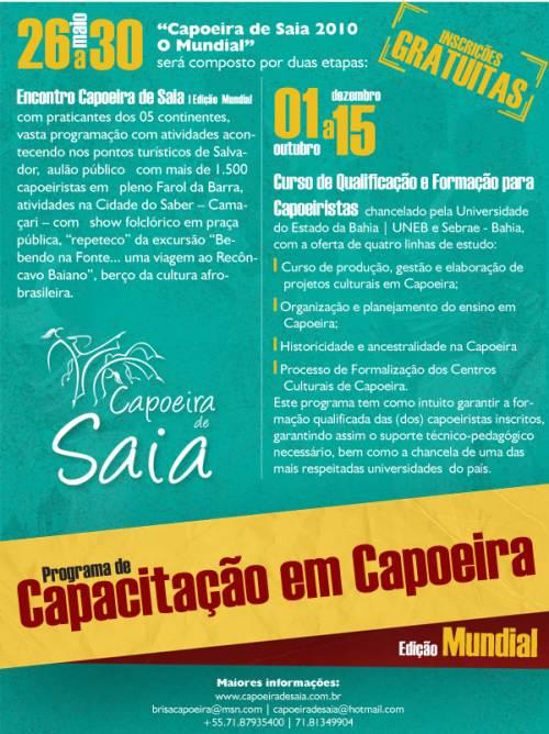 Portal Capoeira Bahia: Capoeira de Saia deve reunir mais de cinco mil participantes Eventos - Agenda