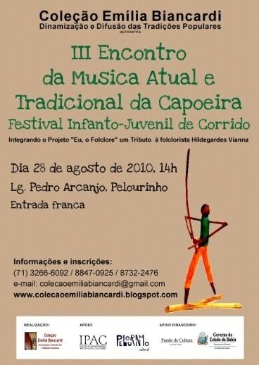 Portal Capoeira III Encontro da Música Atual e Tradicional da Capoeira Eventos - Agenda