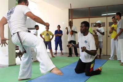 Capoeira que vence a deficiência