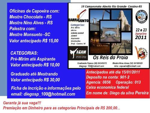 Portal Capoeira 1º Campeonato Aberto de Capoeira no Rio Grande Eventos - Agenda