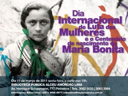 Portal Capoeira Biblioteca Alceu Amoroso Lima & O Autor na Praça: Centenário de nascimento de Maria Bonita. Cultura e Cidadania