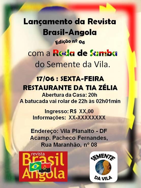 "Portal Capoeira Samba & Semba: Lançamento da Revista ""Brasil-Angola"" Cultura e Cidadania"