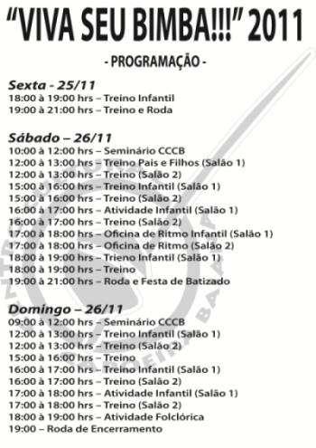 """Portal Capoeira Portugal: """"Viva Seu Bimba 2011"""" Eventos - Agenda"""