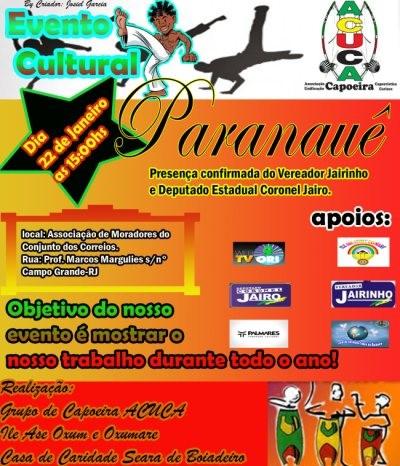Portal Capoeira Evento Cultural: Paranauê Eventos - Agenda