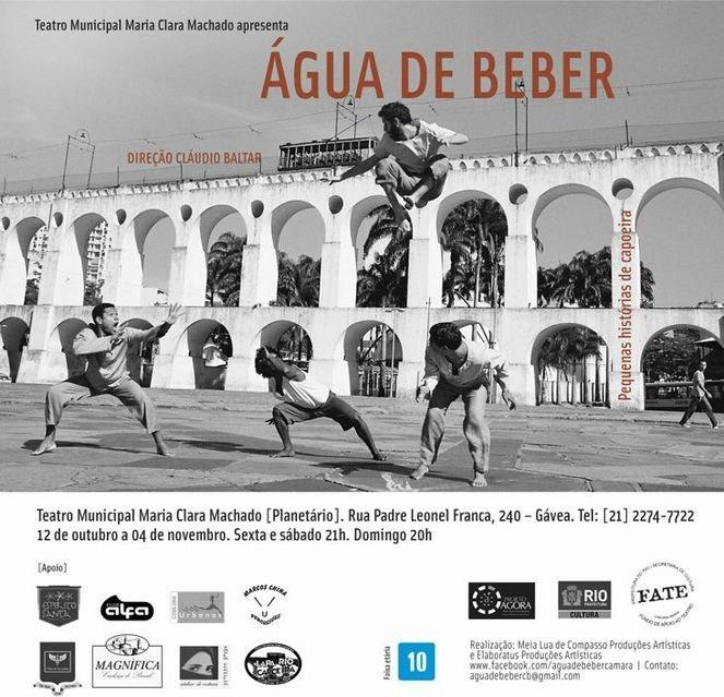 """Portal Capoeira RJ: espetáculo """"Água de Beber"""" Eventos - Agenda"""