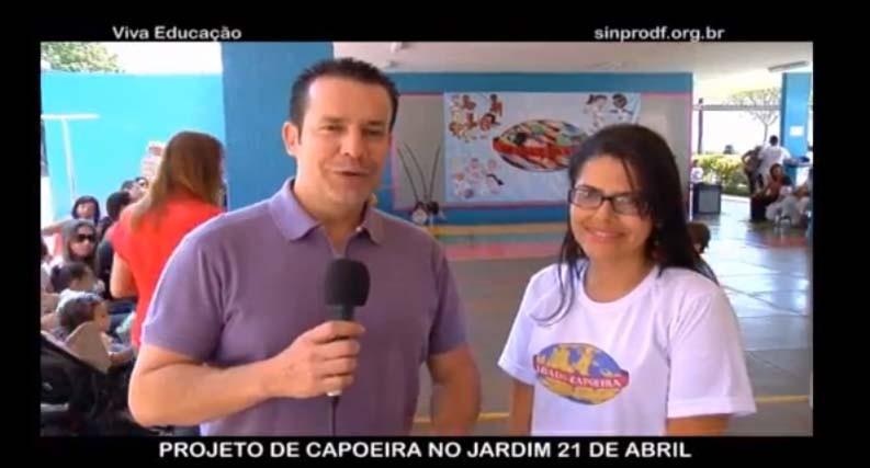 Portal Capoeira DF: Capoeira da o ar da graça em programa alternativo Curiosidades