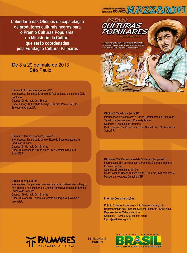 FCP realiza oficinas de capacitação para o Prêmio Culturas Populares