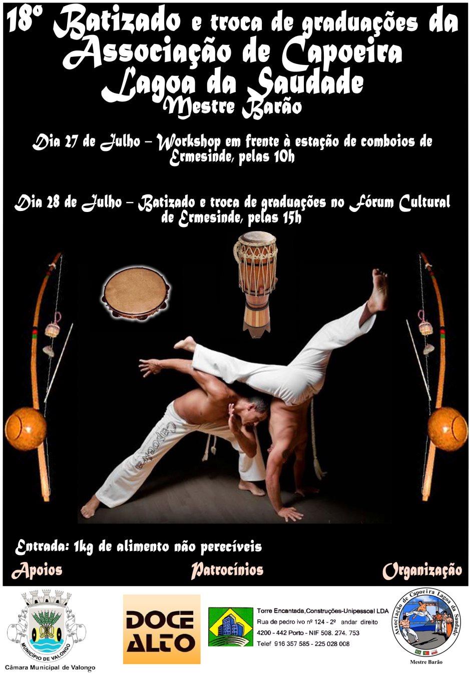 Portal Capoeira 18º Batizado e Troca de Graduações Lagoa da Saudade Eventos - Agenda
