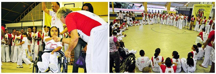 Portal Capoeira Teresina: Pacientes do CEIR participam de batizado de capoeira Capoeira sem Fronteiras