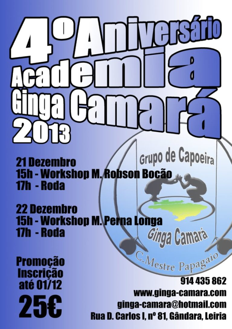 Leiria: 4º Aniversário Academia Ginga Camará