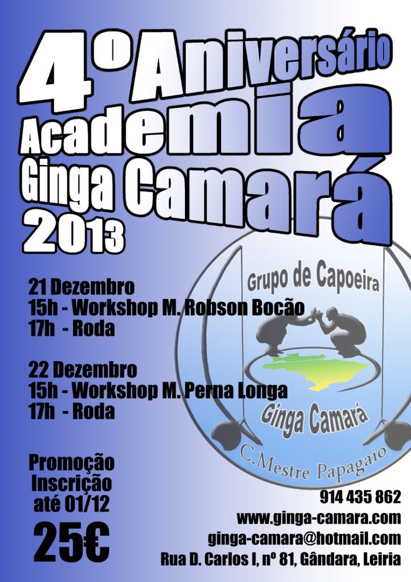 Portal Capoeira Leiria: 4º Aniversário Academia Ginga Camará Eventos - Agenda