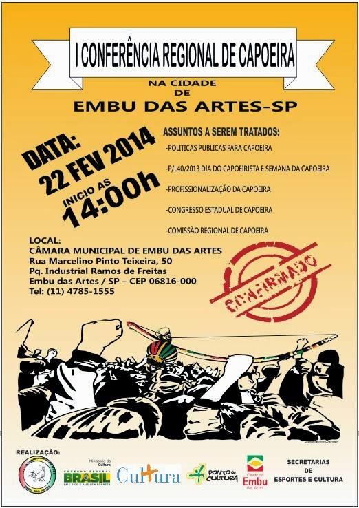 Portal Capoeira Embú das Artes: Capoeira ganha espaço e faz 1ª Conferência Eventos - Agenda