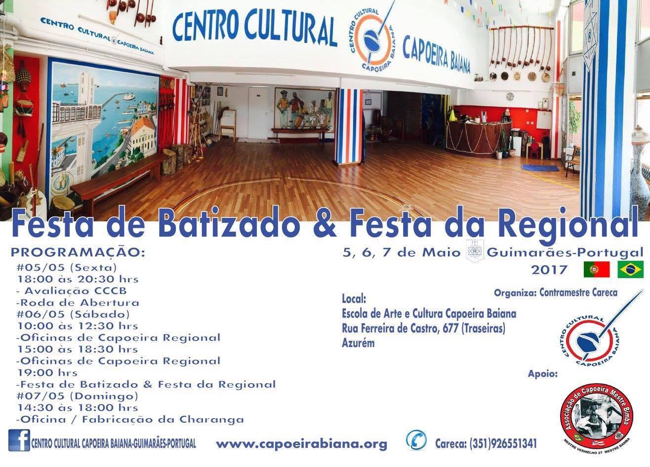 Festa de Batizado e Festa da Regional: CCCB - Guimarães, Portugal Geral Portal Capoeira