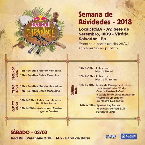 RED BULL PARANAUÊ 2018 Capoeira Eventos - Agenda Portal Capoeira 1