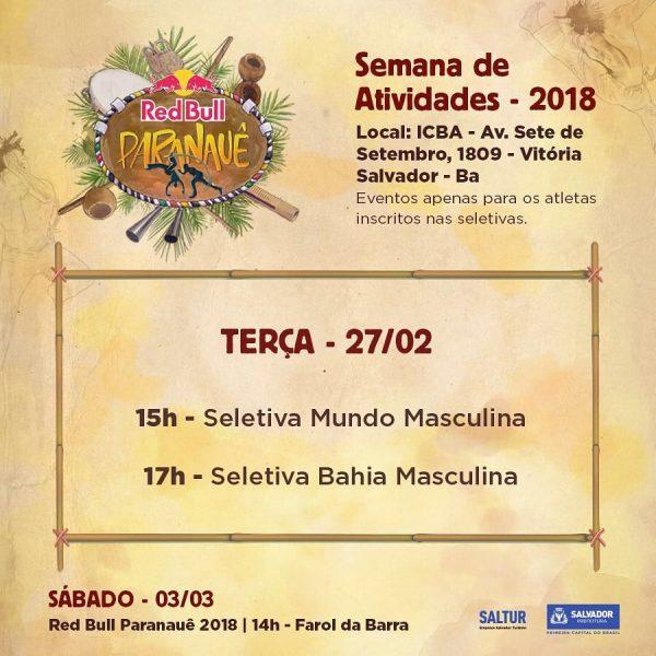 RED BULL PARANAUÊ 2018 Capoeira Eventos - Agenda Portal Capoeira 2