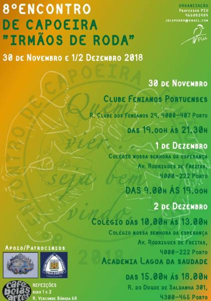 """Porto: Encontro """"Irmãos de Roda"""" Eventos - Agenda Portal Capoeira 3"""