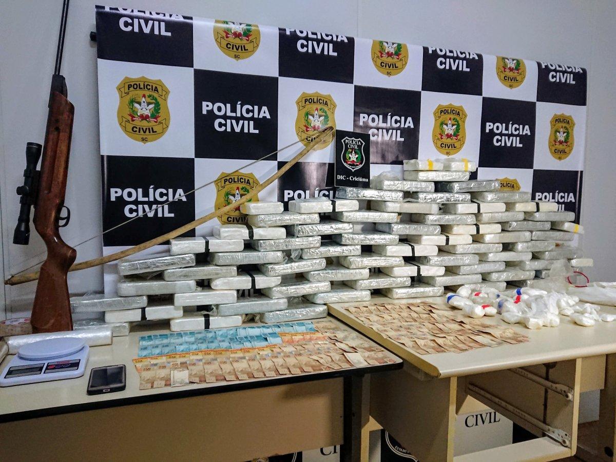 """""""Operação Berimbau"""" – Polícia Civil apreende mais de 65kg de cocaína pura em Nova Veneza"""