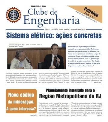 Jornal do Clube de Engenharia nº 560 - Novembro de 2015