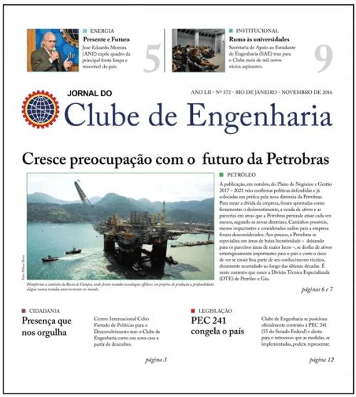 Jornal do Clube de Engenharia nº 572 - Novembro de 2016